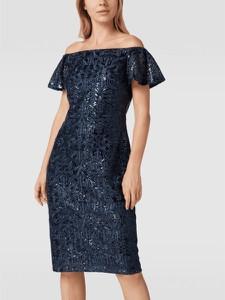 Granatowa sukienka Ralph Lauren midi