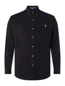Czarna koszula POLO RALPH LAUREN z kołnierzykiem button down z długim rękawem
