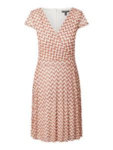 Brązowa sukienka Esprit z dekoltem w kształcie litery v mini w stylu casual