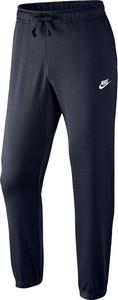 Granatowe spodnie sportowe Nike w street stylu z dresówki