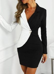 Czarna sukienka Cikelly z dekoltem w kształcie litery v dopasowana