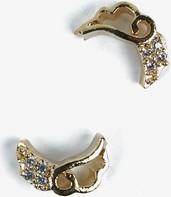 790 Ozdoba do manicure Semilac złote skrzydła, 2 sztuki