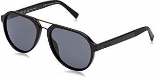 amazon.de Timberland TB9142 męskie okulary przeciwsłoneczne, czarne (Shiny Black/Smoke Polarized), 56
