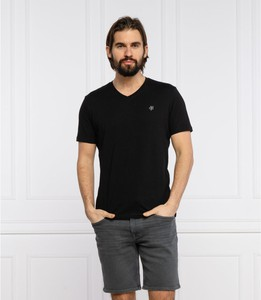 Czarny t-shirt Marc O'Polo z krótkim rękawem