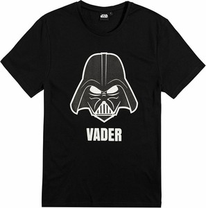 Czarny t-shirt Odzież Licencyjna w młodzieżowym stylu