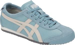 Niebieskie buty sportowe Asics Tiger z płaską podeszwą z zamszu w młodzieżowym stylu