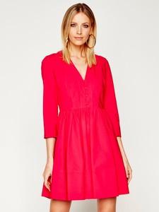 Czerwona sukienka Twinset rozkloszowana mini