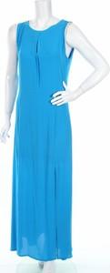 Niebieska sukienka Velluto Rosso maxi