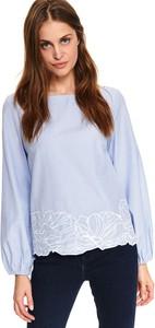 Niebieska bluzka Top Secret z tkaniny