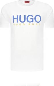 T-shirt Hugo Boss z krótkim rękawem w młodzieżowym stylu z nadrukiem