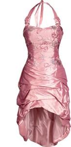 Różowa sukienka Fokus z tkaniny mini