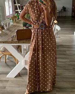 Sukienka Kendallme z długim rękawem w stylu casual maxi