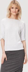 Bluzka FEMESTAGE Eva Minge w stylu casual z okrągłym dekoltem z krótkim rękawem