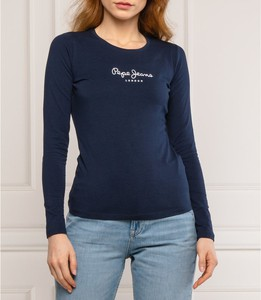 Niebieska bluzka Pepe Jeans z długim rękawem