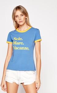Niebieski t-shirt Drivemebikini