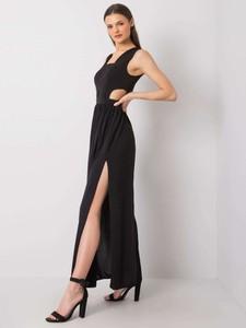 Czarna sukienka Promese z dekoltem w kształcie litery v maxi