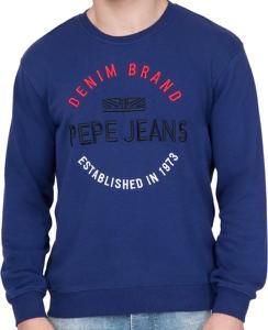 Niebieska bluza Pepe Jeans z bawełny w młodzieżowym stylu