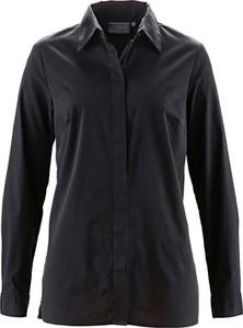 Czarna koszula bonprix bpc selection z długim rękawem