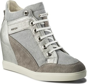 Sneakersy geox - d eleni c d7267c 022ew c1355 lt grey/silver