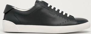 Buty sportowe Hugo Boss z płaską podeszwą ze skóry