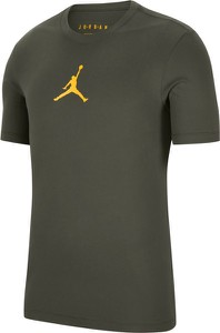 Zielony t-shirt Jordan z bawełny