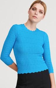 Turkusowa bluzka Reserved w stylu casual z długim rękawem