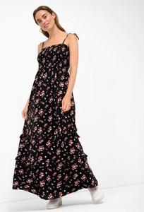 Czarna sukienka ORSAY z tkaniny w stylu boho
