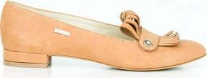 Pomarańczowe baleriny Zapato w stylu glamour