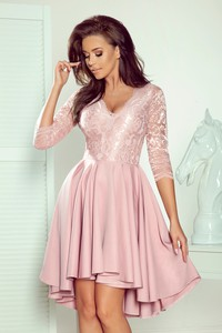Różowa sukienka NUMOCO asymetryczna