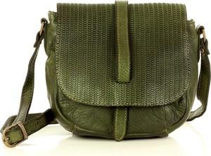 Zielona torebka Marco Mazzini Handmade ze skóry średnia