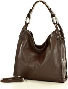 Brązowa torebka MAZZINI w stylu casual