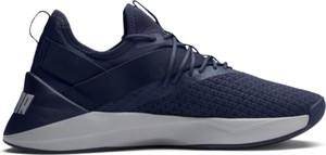 Niebieskie buty sportowe Puma w sportowym stylu