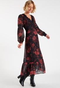 Sukienka Monnari z dekoltem w kształcie litery v z długim rękawem midi