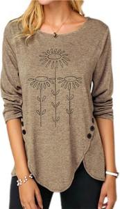Bluzka Sandbella z okrągłym dekoltem z długim rękawem