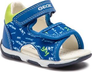 Niebieskie buciki niemowlęce Geox na rzepy