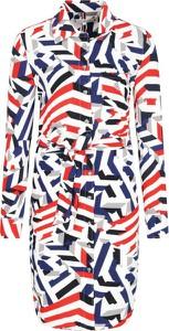 Sukienka Tommy Hilfiger mini z kołnierzykiem z długim rękawem