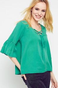 Zielona bluzka Yups z długim rękawem