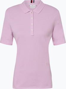 Różowy t-shirt Tommy Hilfiger z bawełny