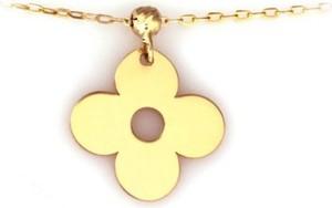 Lovrin Złoty naszyjnik 585 celebrytka kwiatuszek z kuleczką