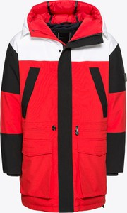 Czerwona kurtka Tommy Hilfiger z tkaniny