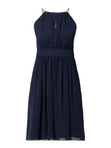 Granatowa sukienka Swing mini rozkloszowana