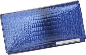 Niebieski portfel Pellucci ze skóry