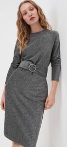 Srebrna sukienka Sinsay z długim rękawem