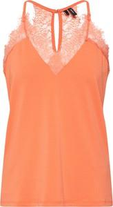 Pomarańczowa bluzka Vero Moda z dekoltem w kształcie litery v