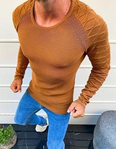 Brązowy sweter Dstreet z bawełny