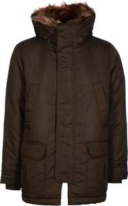 Brązowy płaszcz męski Gap w stylu casual