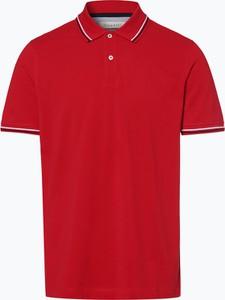 Czerwona koszulka polo Bugatti z krótkim rękawem