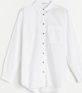 Koszula Reserved z bawełny z kołnierzykiem