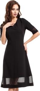 Sukienka MOE z krótkim rękawem z szyfonu