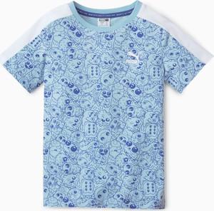 Niebieska koszulka dziecięca Puma z krótkim rękawem z bawełny